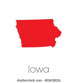 A Map of the the state Iowa