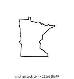 map of the state of Minnesota. vector illustration
