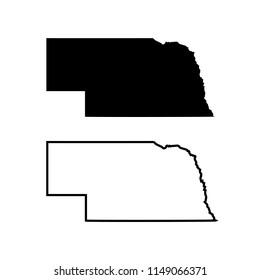 the map of the state of Nebraska. vector illustration