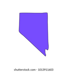 Map of the state of Nevada on a white background