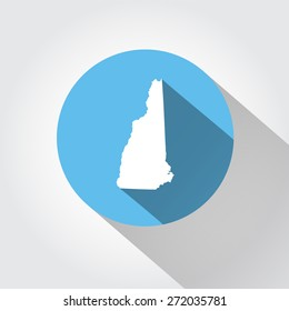 Map state of New Hampshire