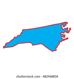 A Map of the the state  North Carolina