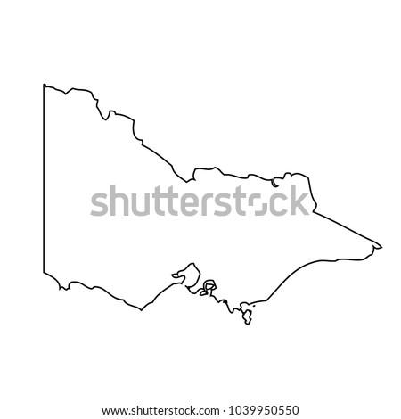 Victoria State Australia Map.Map State Victoria Australia Stock Vector Royalty Free 1039950550
