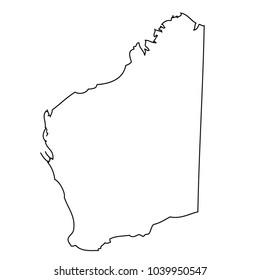 Map state Western Australia of Australia