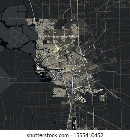 Map Stockton city. California. USA