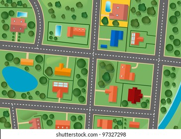 Map of suburb district for sold real estate design. Jpeg version also available in gallery