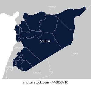 Turkey Syria Map Images, Stock Photos & Vectors | Shutterstock on