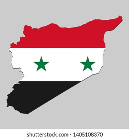 White Graphics /& More O-s-Syria National Country Flag