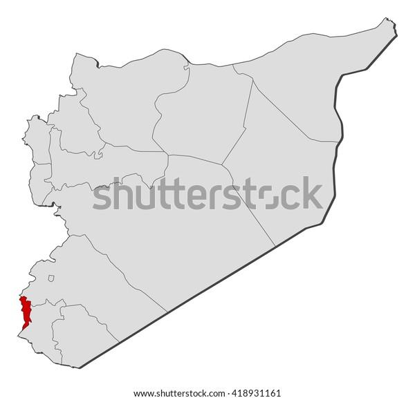 Map Syria Quneitra Stock Vector (Royalty Free) 418931161