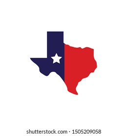 Map of Texas icon isolated on white background