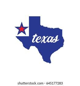 Map of Texas Vector Illustration