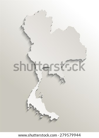 Map Thailand Card Paper 3 D Natural Stock Vector (Royalty Free ...
