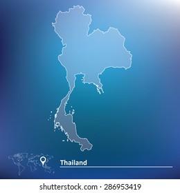 Map of Thailand - vector illustration