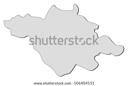 Map Tlaxcala Mexico Stock Vector Royalty Free 506404531 Shutterstock