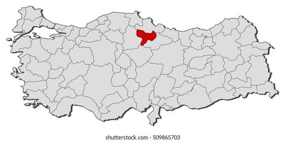Map Turkey Kayseri Stock Photo Photo Vector Illustration
