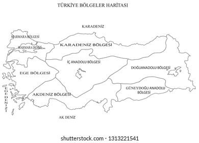 Turkey Political Map Images Stock Photos Vectors Shutterstock