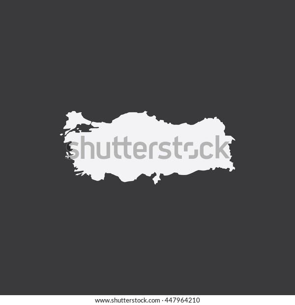 Map of Turkey Vector Illustration