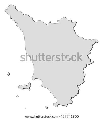 Map Tuscany Italy Stock Vector (Royalty Free) 427741900 - Shutterstock