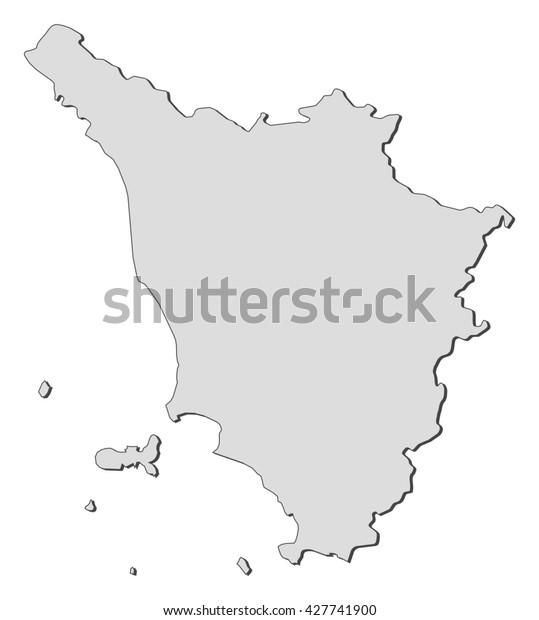 Map Tuscany Italy Stock Vector (Royalty Free) 427741900