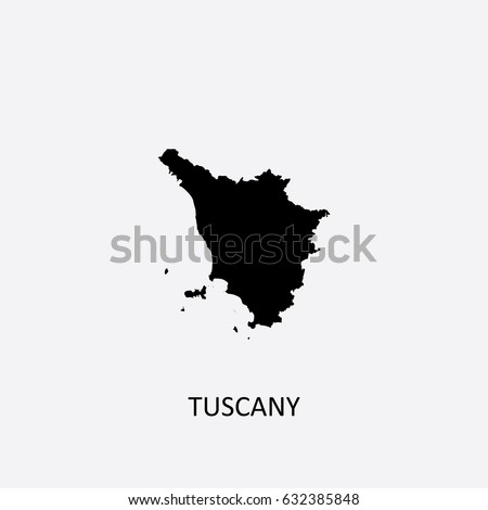 Map Tuscany Italy Vector Illustration Stock Vector (Royalty Free ...