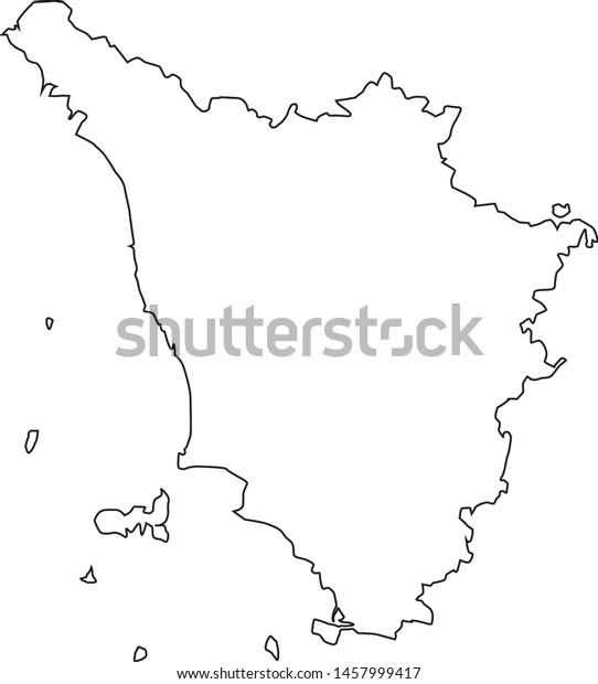 Map Tuscany Region Italy Stock Vector (Royalty Free) 1457999417