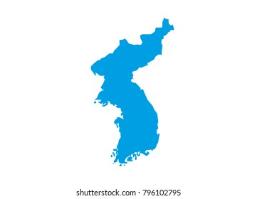 map of the two north and south koreas