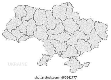 Map of Ukraine by regions.