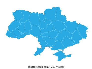 Map of ukraine. High detailed vector map - ukraine.