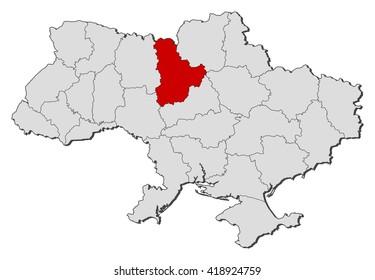 Map - Ukraine, Kiev