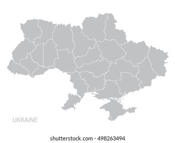 Map of Ukraine. Vector.