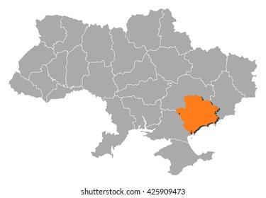 Map - Ukraine, Zaporizhia