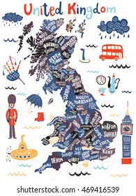 Map Of England Poster.Uk Map Poster Images Stock Photos Vectors Shutterstock