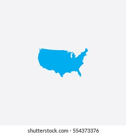 Map of United States of America with States