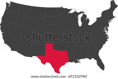 Map United States America Split Into Stock Vector (Royalty Free ...