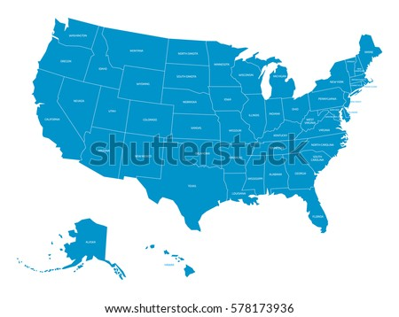 Map United States America State Names Stock Vector (Royalty Free ...