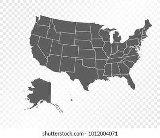 Usa Map Transparent Background Images Stock Photos Vectors - Us-map-transparent-background