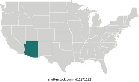 Arizona Map Images, Stock Photos & Vectors | Shutterstock