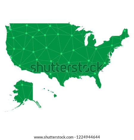 United States Map Picture Frame.Map United States Polygonal Wire Frame Stock Vector Royalty Free