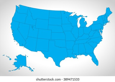 map united states vector sourcing usa with federal states, Source: Outline Map of the United States from er.jsc.nasa.gov