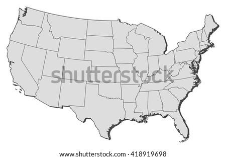 Map United States Washington DC Stock Vector (Royalty Free ...
