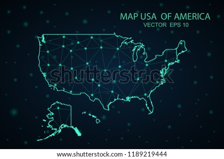 United States Map Picture Frame.Map United States Wire Frame 3 D Stock Vector Royalty Free