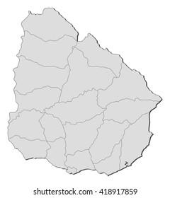 Map - Uruguay