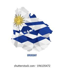 Map of Uruguay Vector Illustration