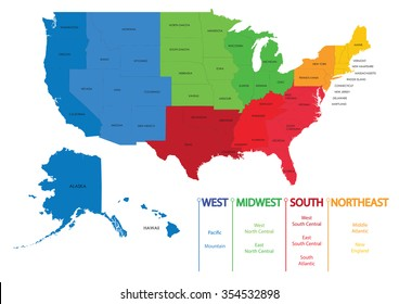 map of us regions maps usa