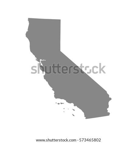 California Map Shutterstockcom.Map Us State California Vector Stock Vector Royalty Free 573465802