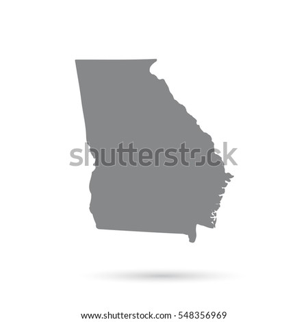 Map US State Georgia On White Stock Vector (Royalty Free ... Georgia On Us Map on fort benning georgia base map, georgia counties map, georgia usa, alabama and georgia map, georgia on map of asia, georgia road map, georgia on georgia, georgia highways, georgia tourism map, georgia state map, georgia on world map, georgia on europe map, united states map, georgia shape map, georgia population density map,