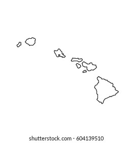 map of the U.S. state Hawaii