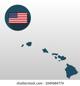 Map US State Hawaii On White Stock Vector (Royalty Free) 765403960 ...