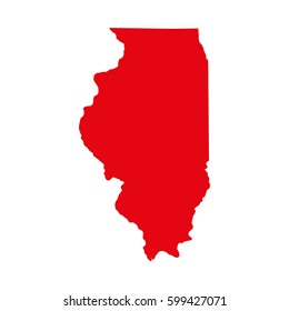 map of the U.S. state of Illinois