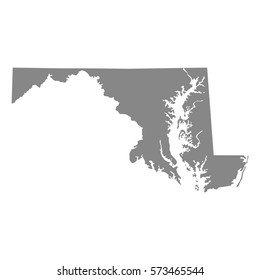 map of the U.S. state of Maryland , vector